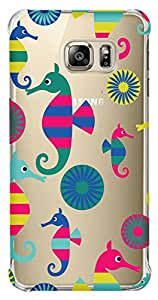 WOW Transparent Printed Back Cover Case For Samsung Galaxy S6 Edge
