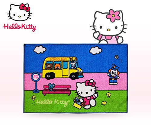 Teppich für Kinderzimmer Hello Kitty Serie 5verschiedenen Mustern 67x 100cm mit Boden aus Latex rutschfeste. MWS - Teen Hello Kitty