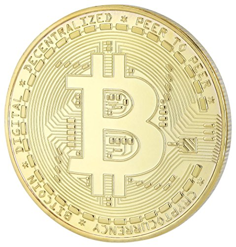 Bitcoin (BTC) Physische Münze in Gold - Limited Miner Edition inkl. Schutzkapsel - Original von Cryptos und Must-Have für Freunde von digitalen Währungen