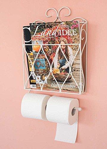DanDiBo Zeitungs- Toilettenpapierhalter Weiß Toilettenrollenhalter Zeitungsständer