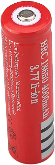 Amaae® Li-ion Rechargeable 18650 Batteries 3.7V 4000AMH 4PCS With(red, leather)