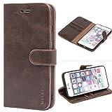 Mulbess Ledertasche im Ständer Book Case / Kartenfach für Apple iPhone 6 / 6S Plus (5,5 Zoll) Tasche Hülle Leder Etui,Vintage Braun
