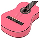 Guitare classique Junior Deluxe rose par Gear4music