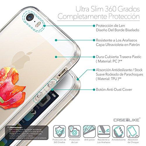 CASEiLIKE Comic Beschriftung Rosa 2912 Ultra Slim Back Hart Plastik Stoßstange Hülle Cover for Apple iPhone SE +Folie Displayschutzfolie +Eingabestift Touchstift (Zufällige Farbe) 2230