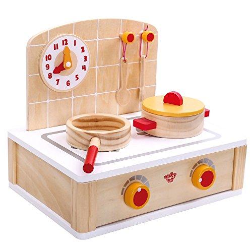 Tooky Toy - Cocinita madera pequeña cazo sartén