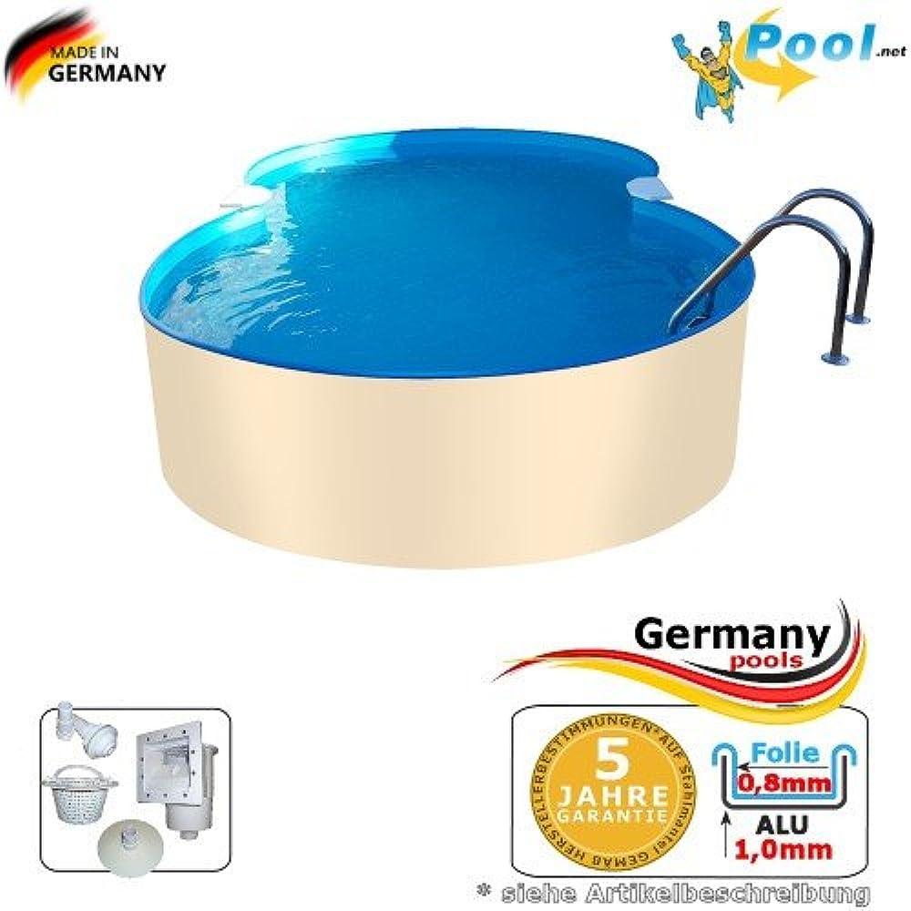 Kupit Zaglublennye Bassejny Germany Pools Achtformpool Alu 8 55