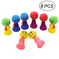 TOYMYTOY 8 Pcs Creative Jump Doll Bounce Elf Toys Babies Educational Learning Toys Party Favors(Random Color)
