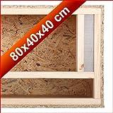 In legno per interni Reptile Vivarium terrario 80x 40x 40cm ventilazione frontale facile installazione 78,7x 40,6x 40,6cm