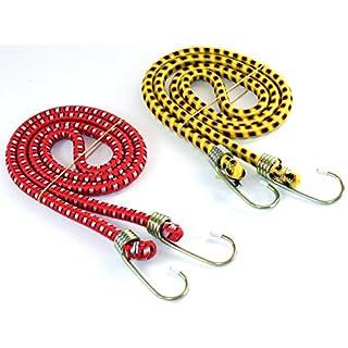 Gepäckgummi 2 Stück EXTREM STARK -K&B Vertrieb- gelb und rot Spanngurt Zurrgurt Spanngummi Gepäckspanner
