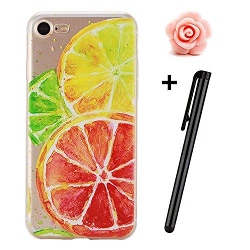 Custodia iPhone SE; Custodia iPhone 5S TPU; Cover in Silicone per iPhone 5/5S Flessibile, Trasparente e ultra sottile, astuccio cover protettivo TOYM per ragazza, presente in modelli diversi colorati  Orange