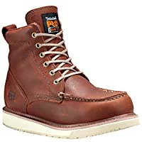 "Timberland PRO Men's 53009 Wedge Sole 6"" Soft-Toe Boot,Rust,10.5 M"