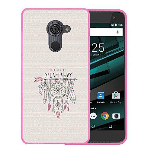 WoowCase Vodafone Smart Platinum 7 Hülle, Handyhülle Silikon für [ Vodafone Smart Platinum 7 ] Träumfänger Handytasche Handy Cover Case Schutzhülle Flexible TPU - Rosa