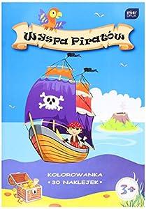 Interdruk MAA4WP - Cuaderno para Colorear (A4, 16 Pegatinas), diseño de Isla de Pirata, Multicolor