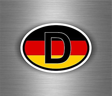 Autocollant sticker voiture moto drapeau code pays D allemagne allemand oval