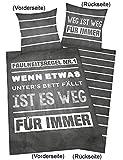 Herding 4459217050412 Bettwäsche Young Coll. Sprüche,Kopfkissenbezug
