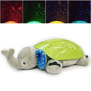 Baby Night Light with Music Animal Star light Constellation Projector for Kids Soothing Dream lights Elephant Soft Toy Sleeping Toys for Child Babies