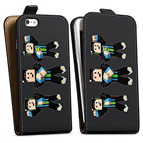 Apple iPhone X Silikon Hülle Case Schutzhülle GommeHD Fanartikel Merchandise Gomme Style Downflip Tasche schwarz