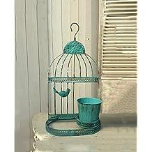 LIXIONG Estilo europeo retro flor marco / casa de hierro pájaro jaula de flores macetas planta flor cubo ornamentos flor de alto grado