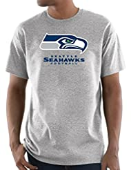 "Seattle Seahawks Majestic NFL ""Critical Victory 3"" Men's S/S T-shirt Chemise - Gray"