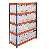 SHS Handhabung hg4853–1Regal Einheiten mit Boxen, 6Boxen, 4Böden, 450mm D x 900mm W x 1600mm H