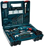 Bosch GSB 500W 10 RE Professional Tool Kit, MS and Plastic