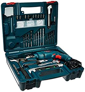 bosch gsb 500w 10 re professional tool kit blue pack of 100 home improvement. Black Bedroom Furniture Sets. Home Design Ideas