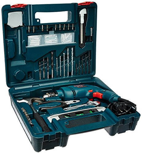 Bosch GSB 500W 10 RE Professional Tool Kit (Blue, Pack...