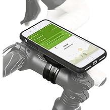 Quick Mount 3.0Soporte de bicicleta para Apple iPhone 8Plus/7Plus (5,5pulgadas) Bike Kit con Case y funda impermeable (Soporte para teléfono móvil, cable de carga Conector, Touch ID Apoyo) Negro/mate