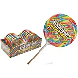 Giant Swirl Lollipop Candy Cane Lolly Gift Toy Party Bag Cake Topper by Lizzy® (Rainbow Swirl)
