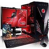 Vibox VBX-PC-8519 Ultra Paket 11X 54,6 cm (21,5 Zoll) Gaming Desktop-PC (AMD A Series A8-7600, 8GB RAM, 2TB HDD, AMD Radeon R7, kein Betriebssystem) rot