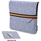 Nv 13-inch Protective Felt Laptop Sleeve For 13-inch MacBook Pro-MacBook Pro Retina With Mouse Pad (Light Grey)