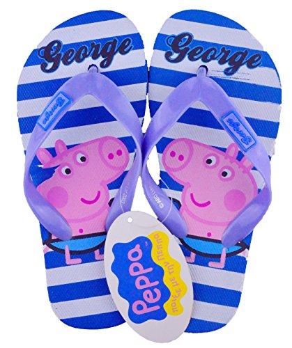 Peppa Pig Offizielles George Pig Flip Flops Hausschuhe Neu Kinder Schuhe, George Design 1 - Größe: 9-10 UK (27-28 ()