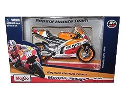 2014 Honda RC2 13V Repsol #26 Dani Pedrosa Motorcycle Model by Maisto 34587 PE