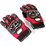 Men's Motorcycle Cycling Bike Bicycle full finger Protective Racing Gloves GH8638 Red size: L