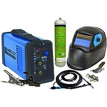 Saldatrice MMA TIG Lift Mikrotig 170+ Casco LCD con torcia TIG a valvola+ Bottiglia Argon + Regolatore di gas + Elect MMA + Tungsteno