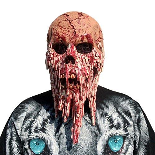 Maske, yoyoug Bloody Zombie Maske Melting Face Erwachsene Latex Kostüm Walking Dead Halloween Scary ()