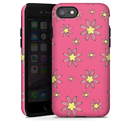 Apple iPhone X Silikon Hülle Case Schutzhülle Flower Muster Blumen Tough Case glänzend