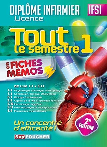 IFSI Tout le semestre 1 en fiches mémos - Diplôme infirmier - 2e édition