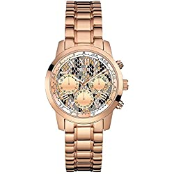 Guess (GVSS5) Women's Quartz Watch with Multicolour Dial Chronograph Display and Rose Gold Stainless Steel Bracelet W0448L9