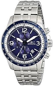 Invicta Invicta Specialty 13961 - Reloj cronógrafo de cuarzo para hombre, correa de acero inoxidable color plateado (agujas luminiscentes, cronómetro) de Invicta