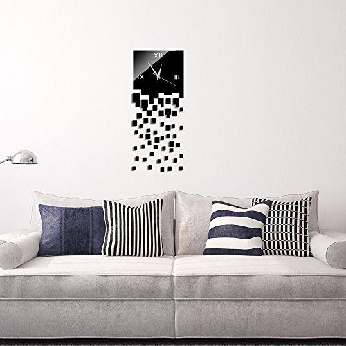 KHSKX Mode kreativ Spiegel Wandsticker und solide Acryl Wand Uhr, Wand-Sticker, Geschenke, Wohnkultur, Wohnzimmer, Schlafzimmer, Küche, (Kostüm Standuhr Eine)