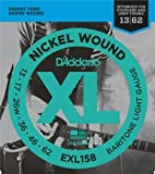 D\'Addario Cordes en nickel pour guitare électrique D\'Addario EXL158, Baritone Light, 13-62