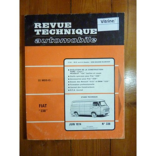 RTA0336 - REVUE TECHNIQUE AUTOMOBILE FIAT 238