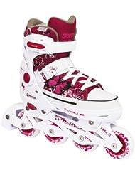Inliner Tempish REBEL PP White Inlineskates verstellbar weiß/pink