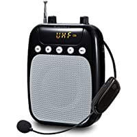 UHF wireless Voice Amplifier, SHIDU SD di s318F 10W FM Voice Amplifier with 2600mAh Rechargeable Lithium Battery For Teacher/Coaches/Tour Guide/Yoga INSTRUCTOR and More nero nero