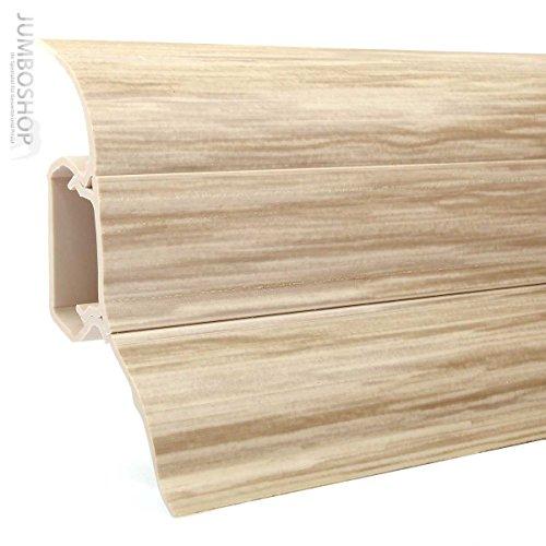 Eiche Laminat (2,5m Sockelleisten Fussleisten 52mm x 28mm aus Kunststoff -- LP52 425 Eiche Gebleicht -- Fussbodenleiste Laminat Dekore Parkett Scheuerleiste)