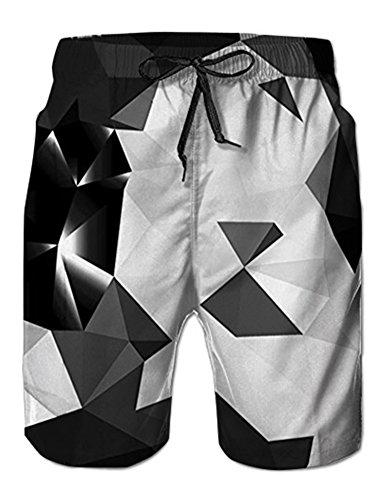 NEWISTAR Homme Short Bain Shorts Séchage Rapide Respirant Exercice Shorts Etanche - Diamond - Taille XL