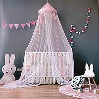 SJLED Cama Toldo Niñas Princesa Dome Mosquitera Grande Decoración Decoración Tienda de campaña para Bebé Niños, 11823 Pulgadas