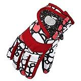Eastlion Kinder Skifahren Handschuhe Verdickung Winter Baumwolle Kalt Sport Wasserdichte Winddichte Schnee Fäustlinge für Jungen und Mädchen,Farbe 1,L