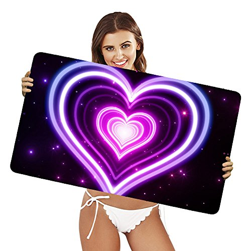 XtremePads [ Gaming Mouse Pad grande tappetino ] - ( Artistic Heart Abstract Purple Neon )